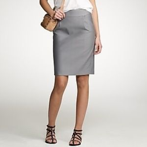 J. Crew Double Serge Cotton Pencil Skirt
